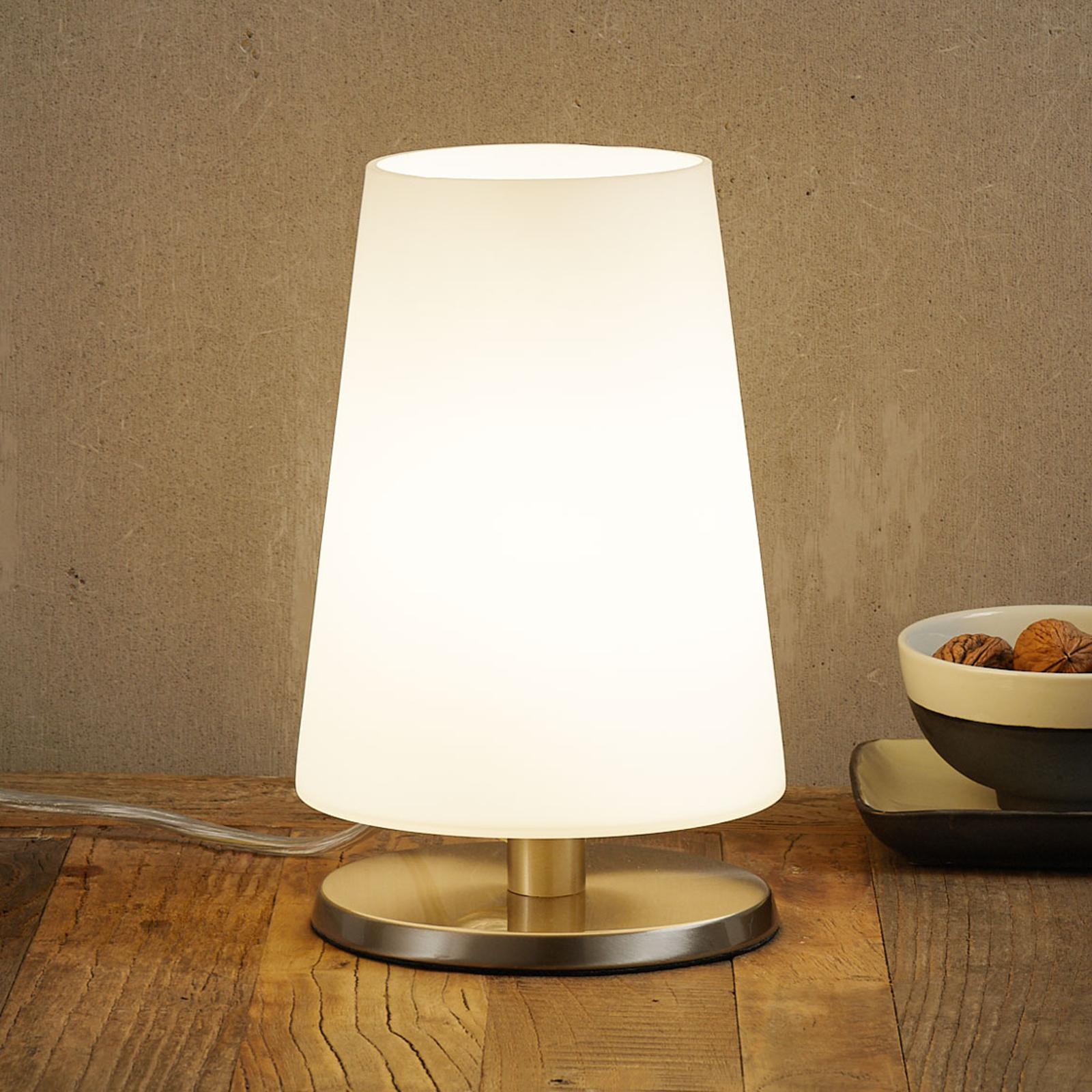 Lampe à poser Ancilla acier, variateur sensitif