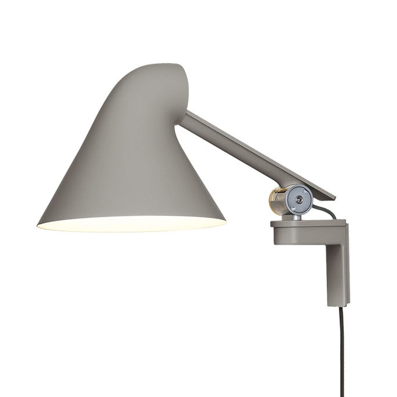 Louis Poulsen NJP LED wandlamp arm kort lichtgrijs