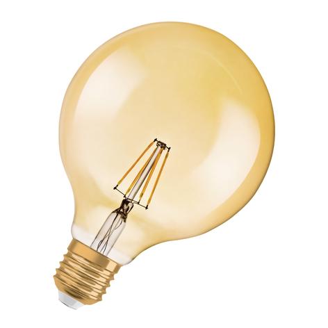 OSRAM LED-pære E27 Vintage 1906 7W Globe gold dim