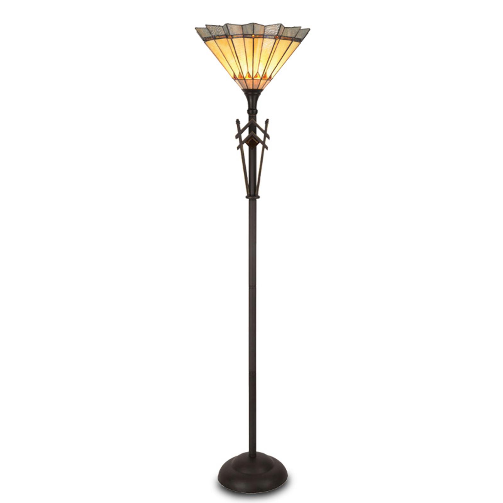 Uliana staande lamp in Tiffany-stijl
