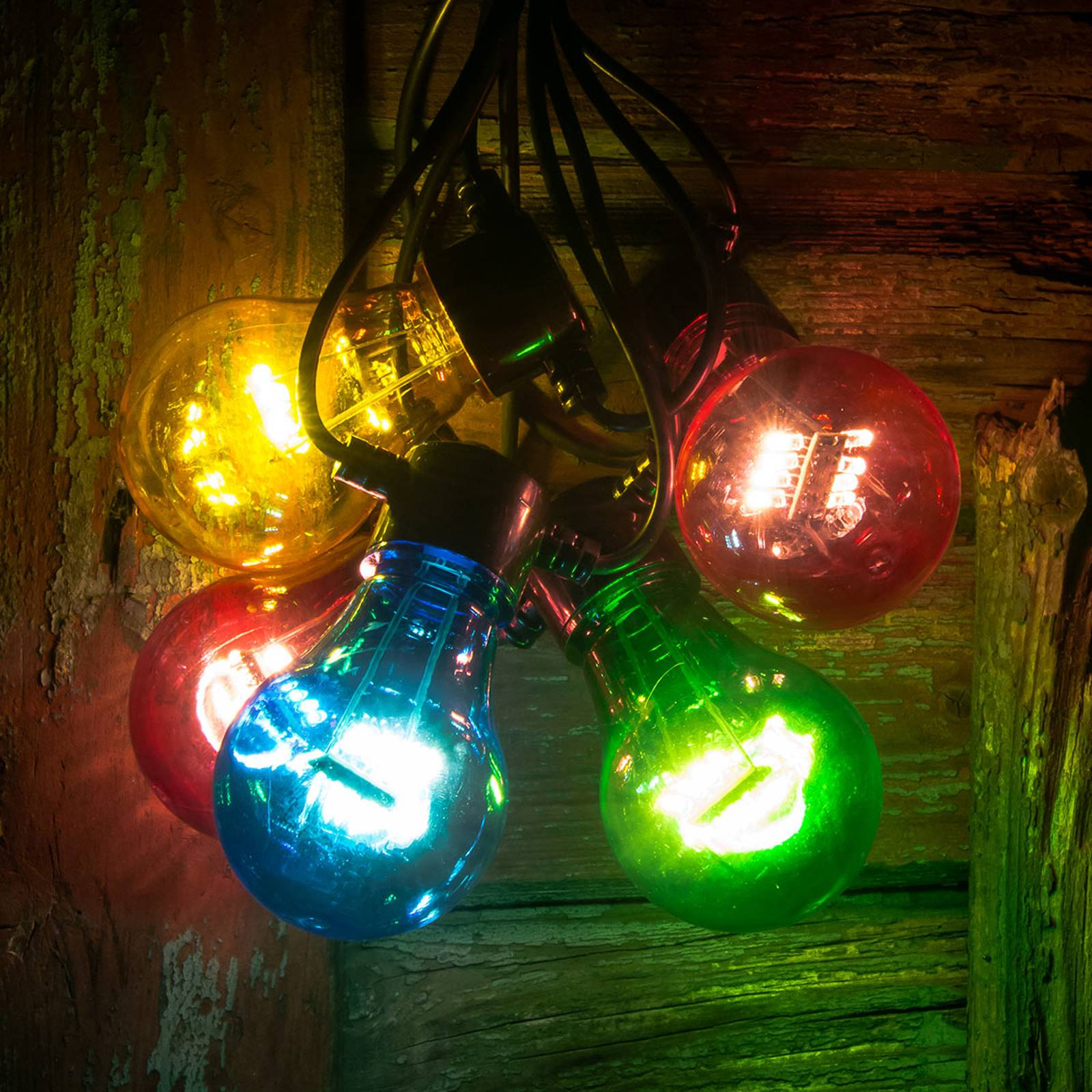 Image of Guirlande LED filament multicolore 5 lampes 07318302372507