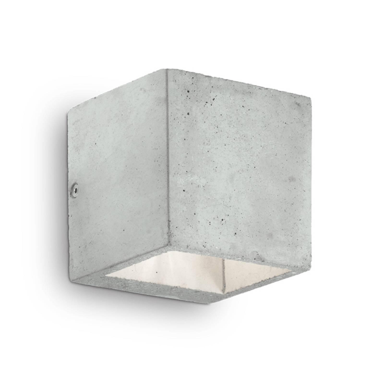 Wandlamp Kool van cement, hoogte 10 cm