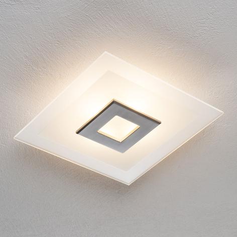 Plafonnier LED Tian à abat-jour en verre, 39cm