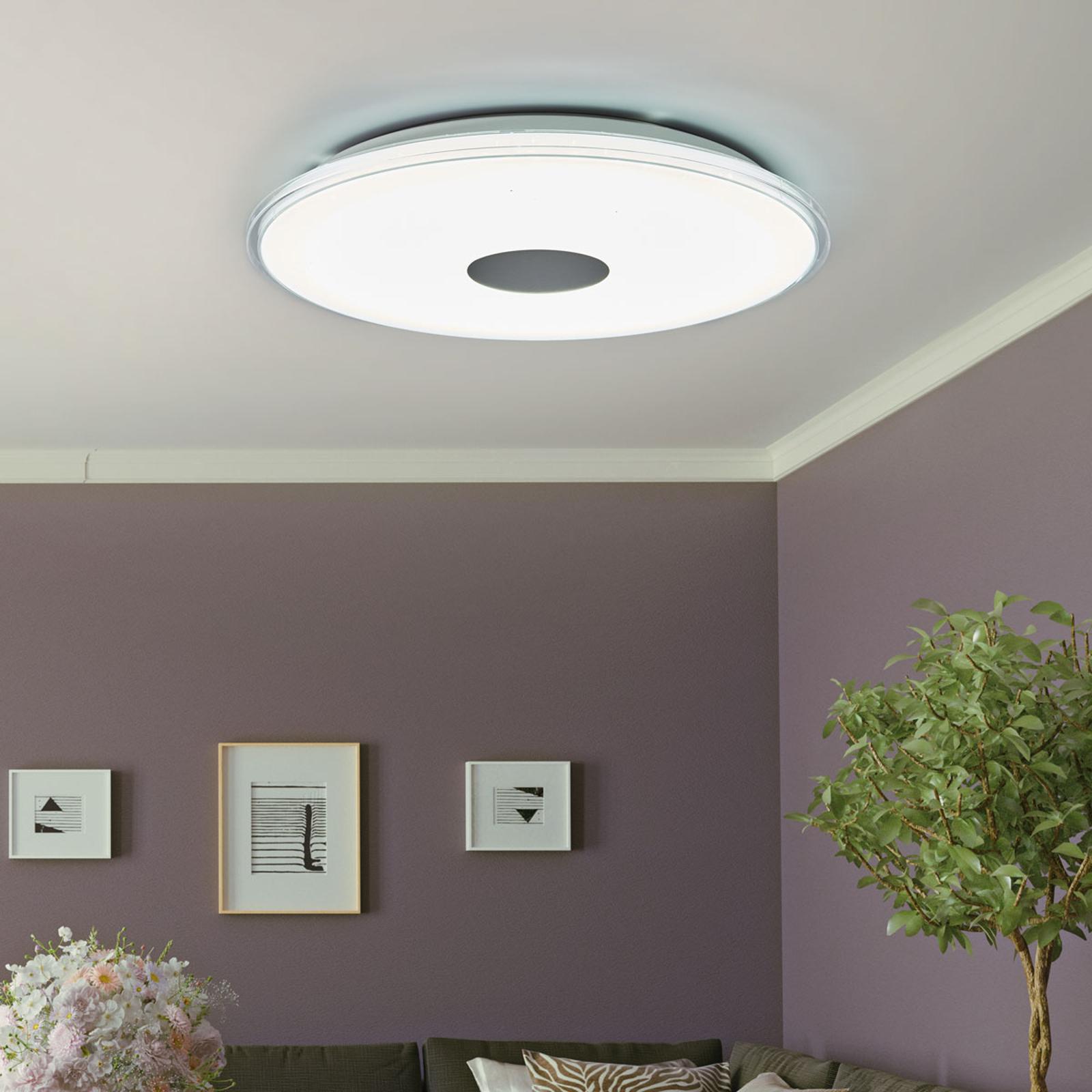 Rund LED taklampe Shogun med strålende utseende