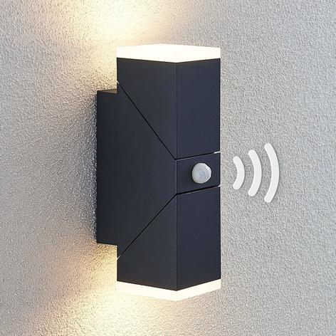 Udendørs LED-væglampe Sally, 2 lyskilde med sensor