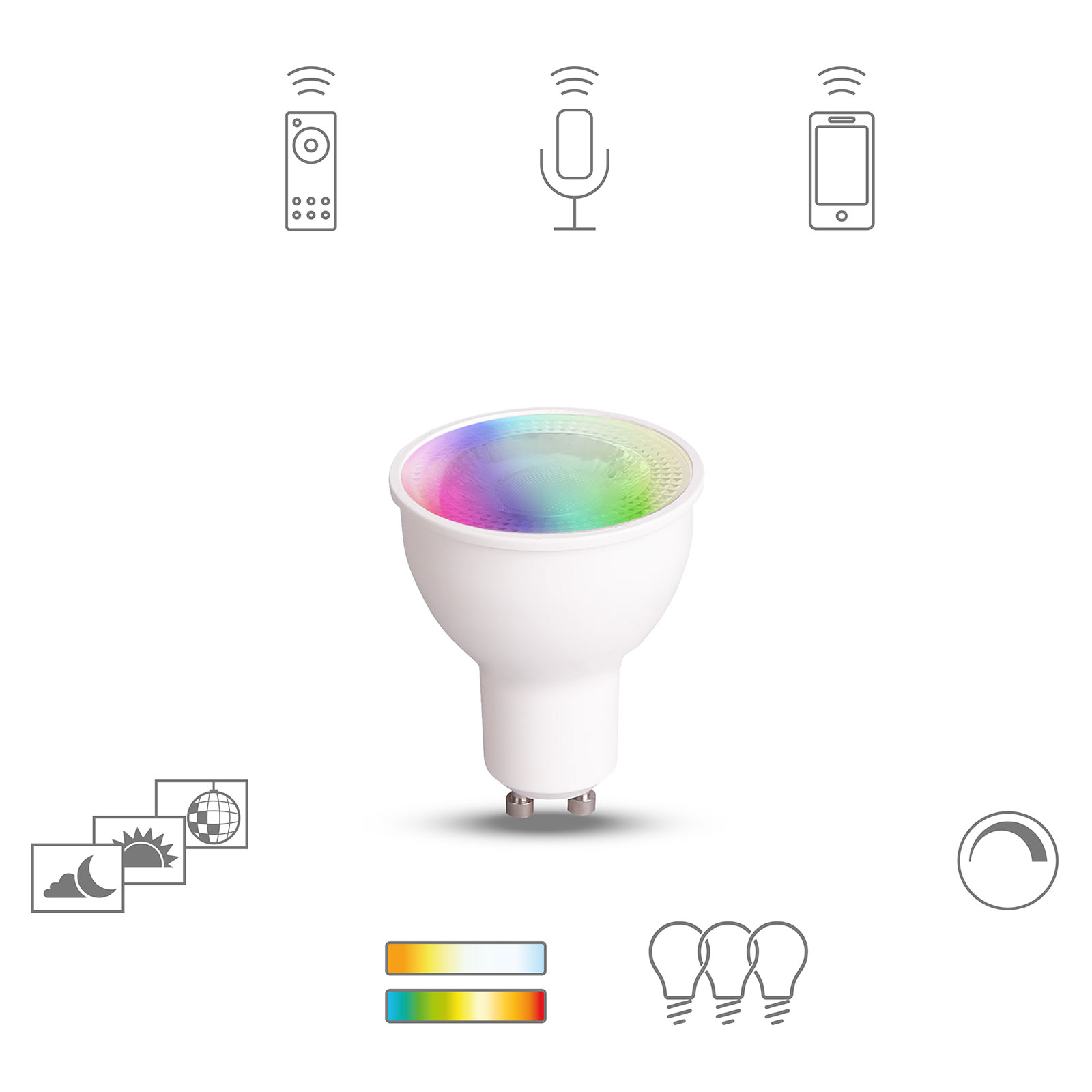 Müller Licht tint white+color LED GU10 6W 350lm