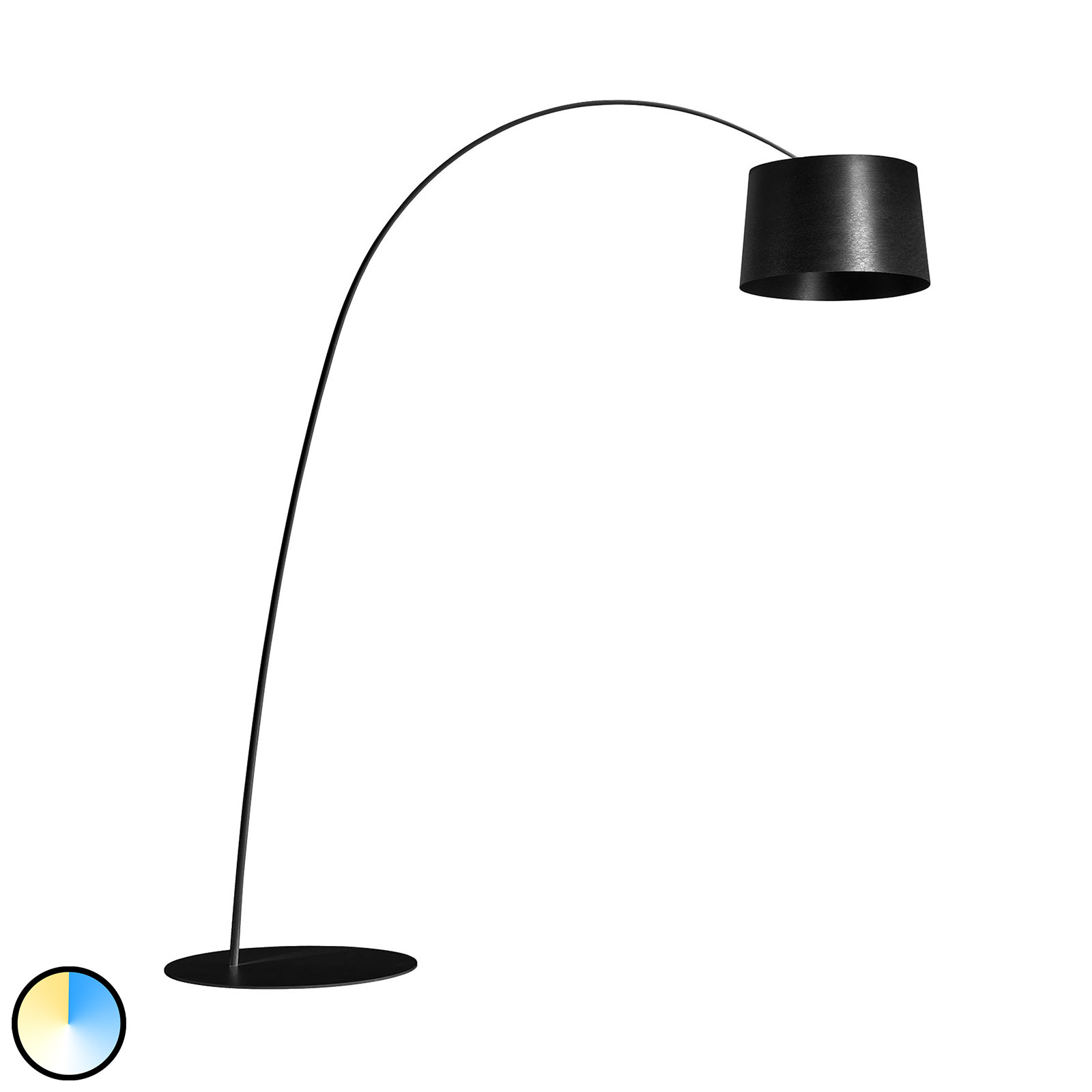 Foscarini MyLight Twiggy LED-Bogenleuchte, schwarz