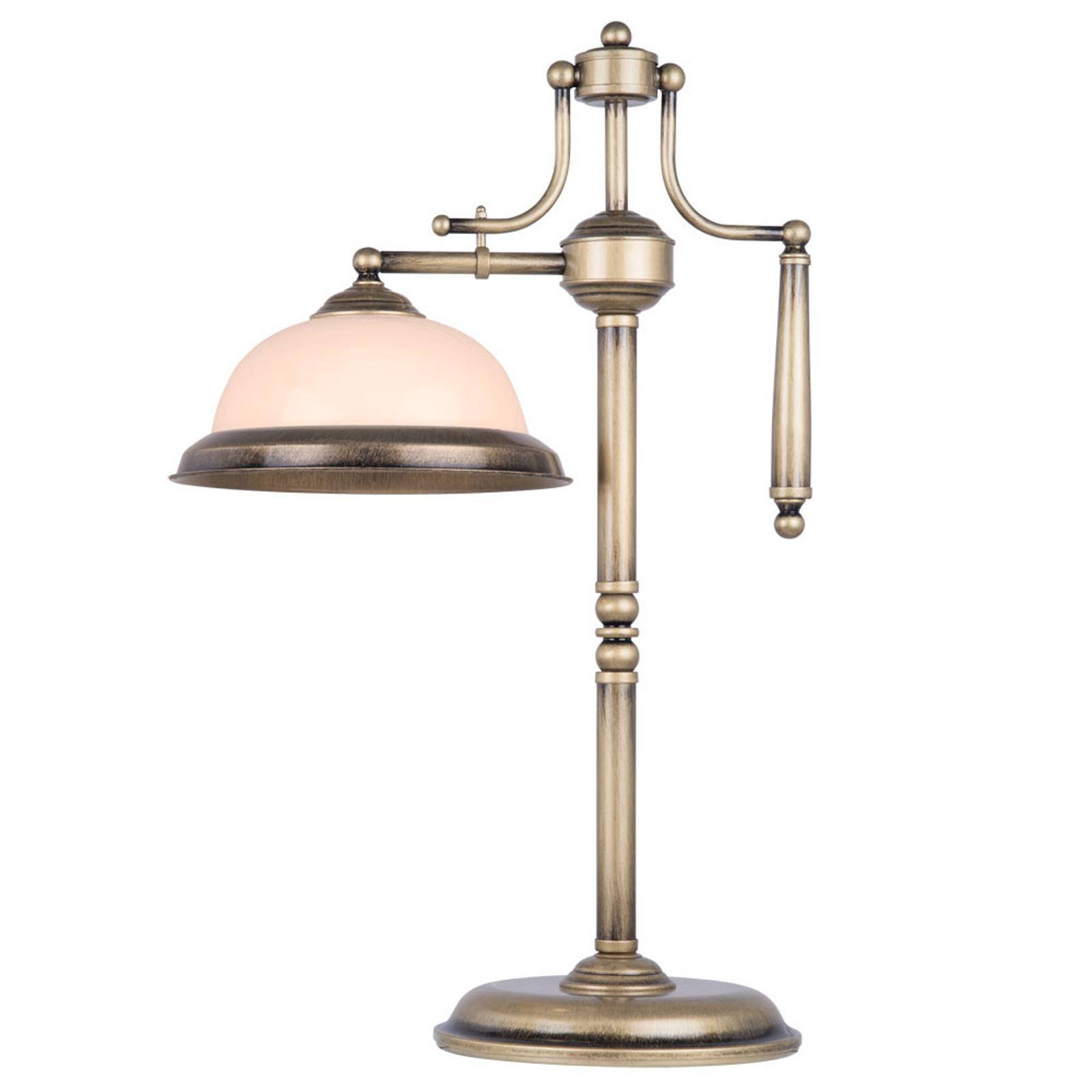 Bordlampe Torio i antikt design, høyde 65 cm
