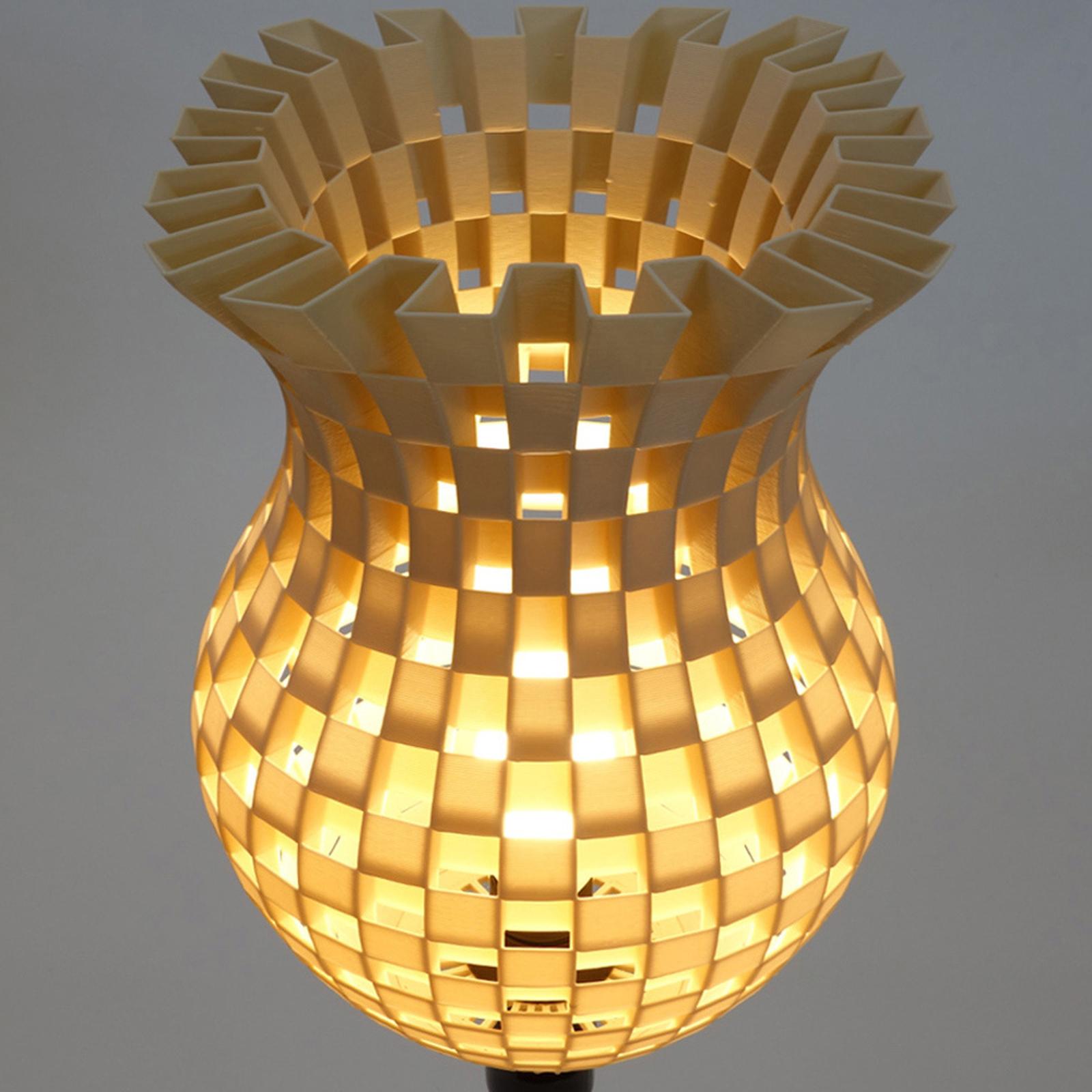Acquista Lampada Da Tavolo Flechtwerk Stampa 3d Crema Lampade It
