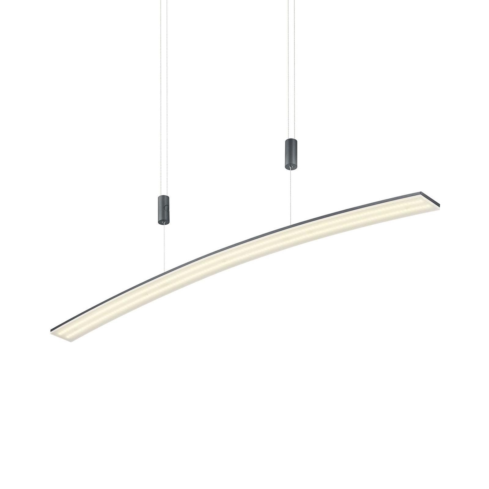 B-Leuchten New Loire lampa wisząca LED antracytowa