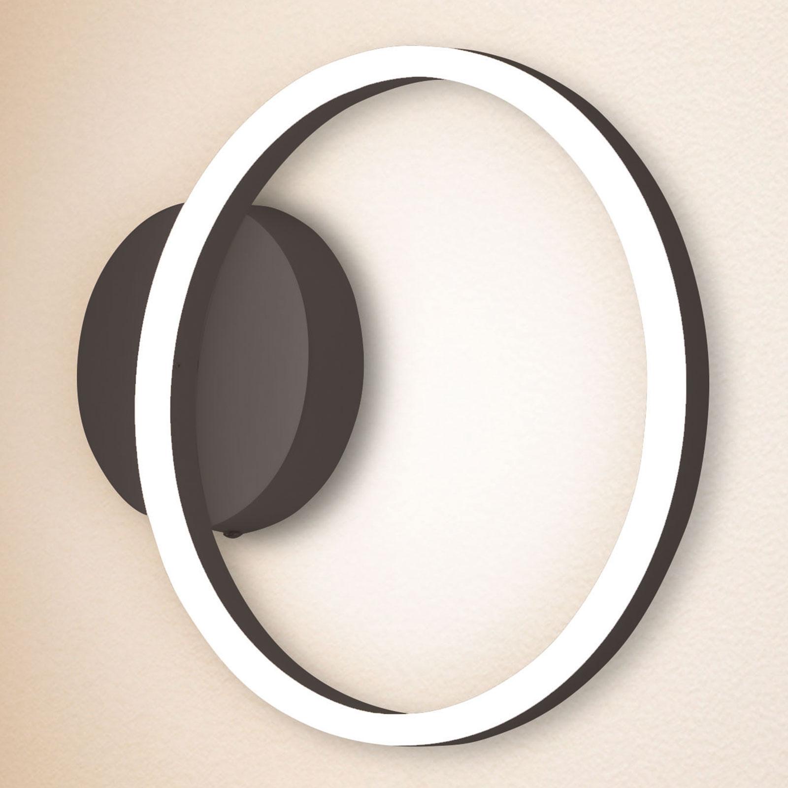 LED wandlamp Giotto, 1-lamp, zwart