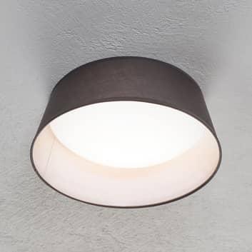 LED stropní svítidlo Ponts šedé textilní stínidlo