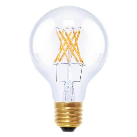 Ampoule globe LED E27 6W 922 G80 à filament