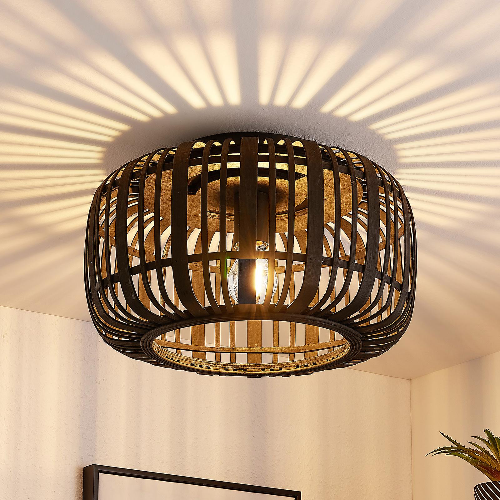 Lindby Canyana taklampe av rotting, svart