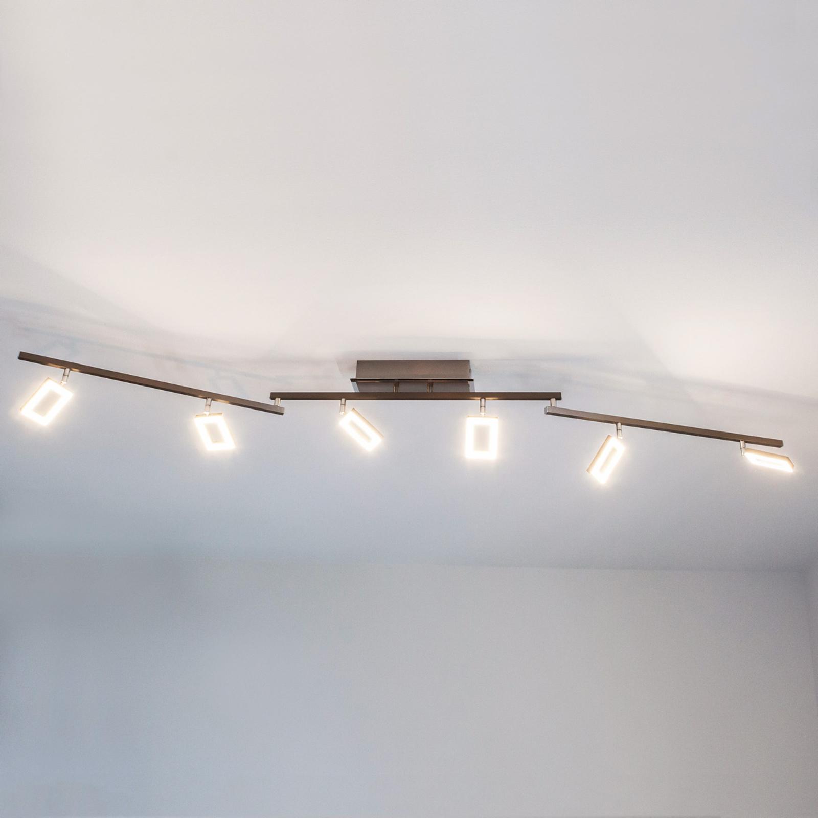 Sechsflammige LED-Deckenleuchte Inigo