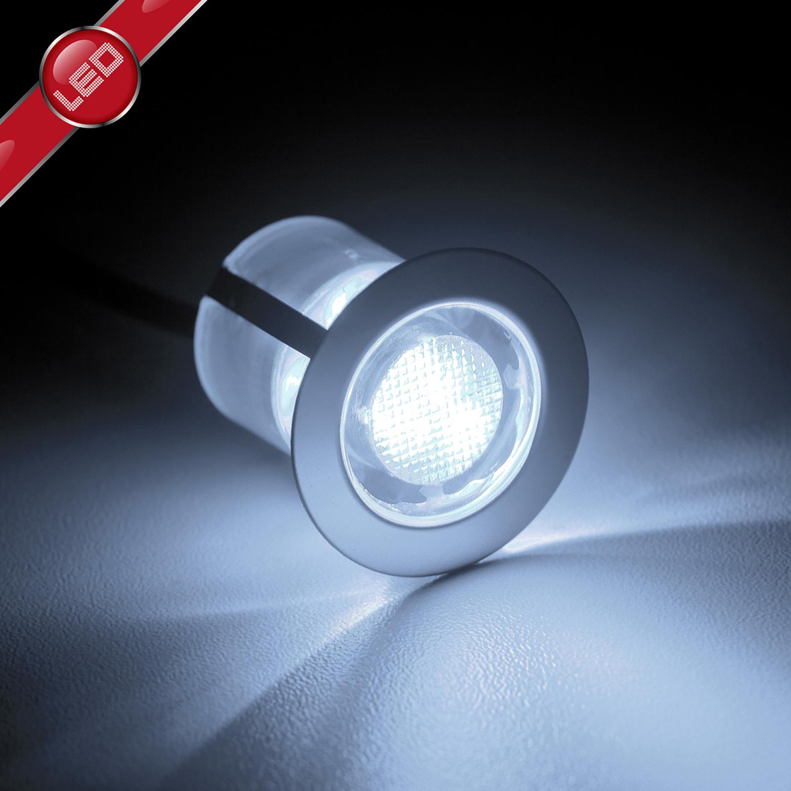 Cosa-LED-uppovalaisin 3 cm 10 kpl perusvalkoinen