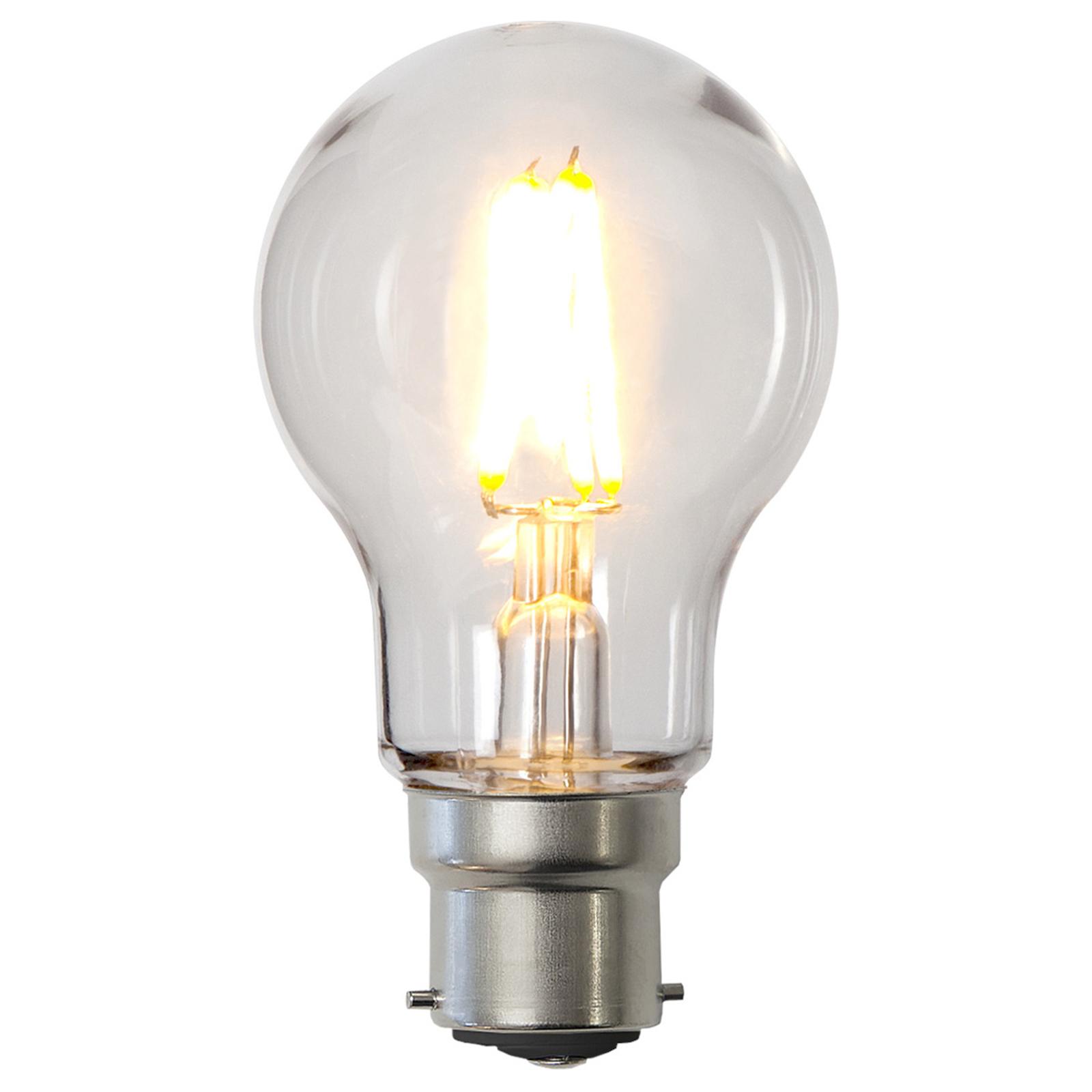LED-Lampe B22 A55 2,4W aus Polycarbonat, klar