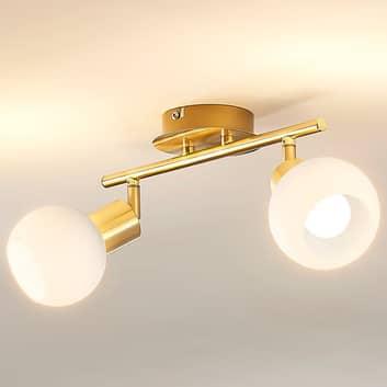 Elaina - lampada da soffitto con LED E14, ottone