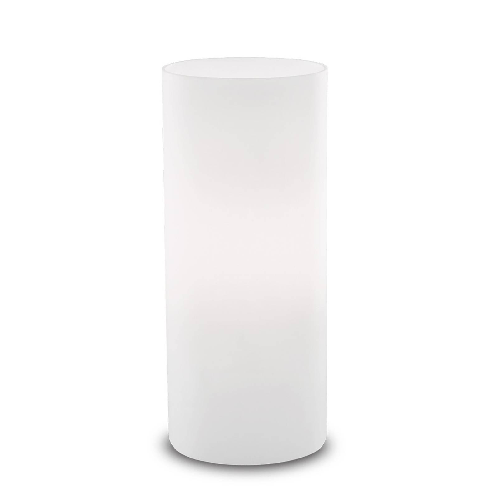 Tafellamp Edo van witte glas, hoogte 23 cm
