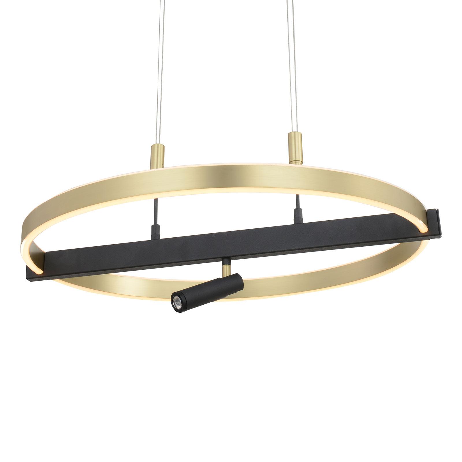 Lucande Matwei lampa wisząca LED, mosiądz