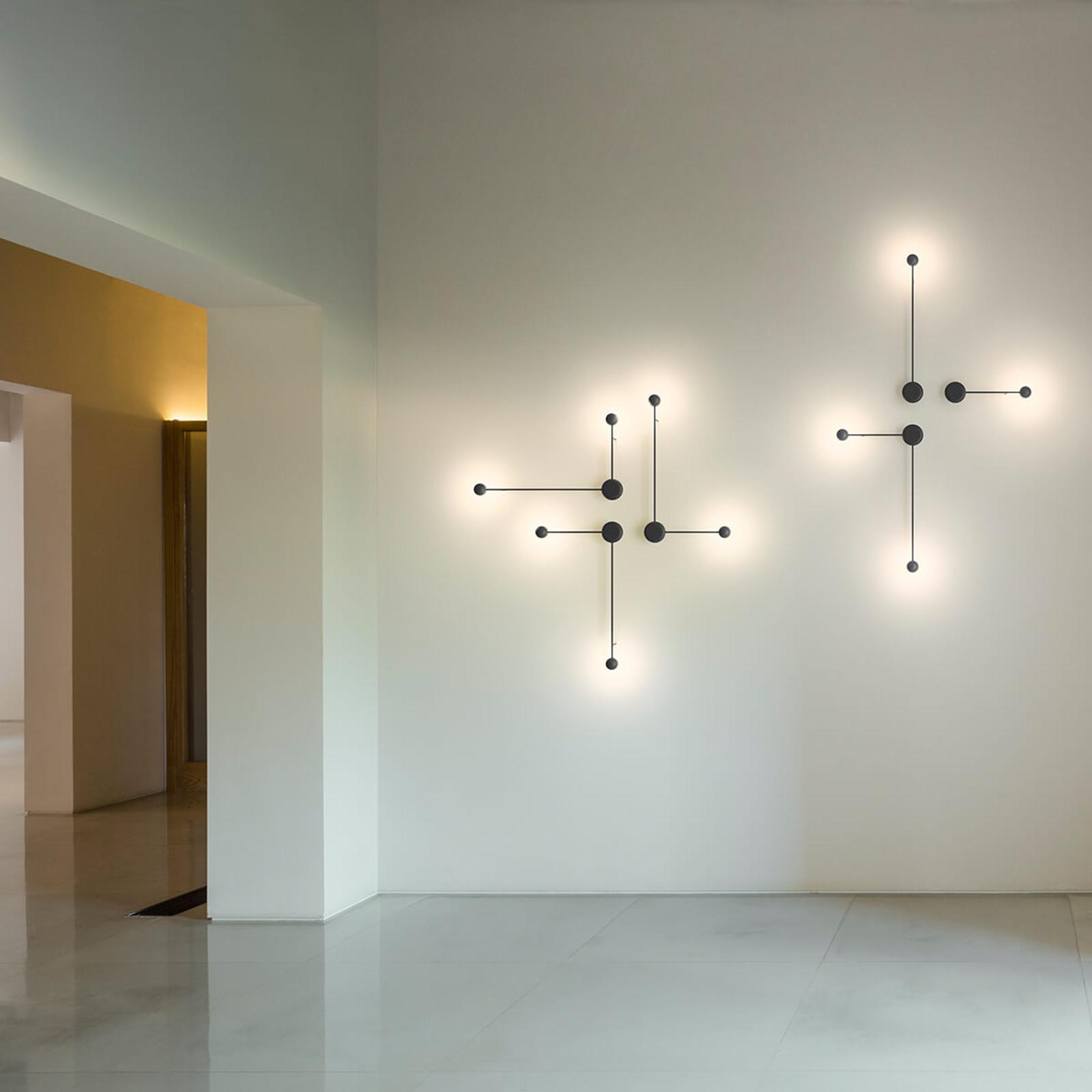 Vibia Pin - LED-Wandleuchte schwarz