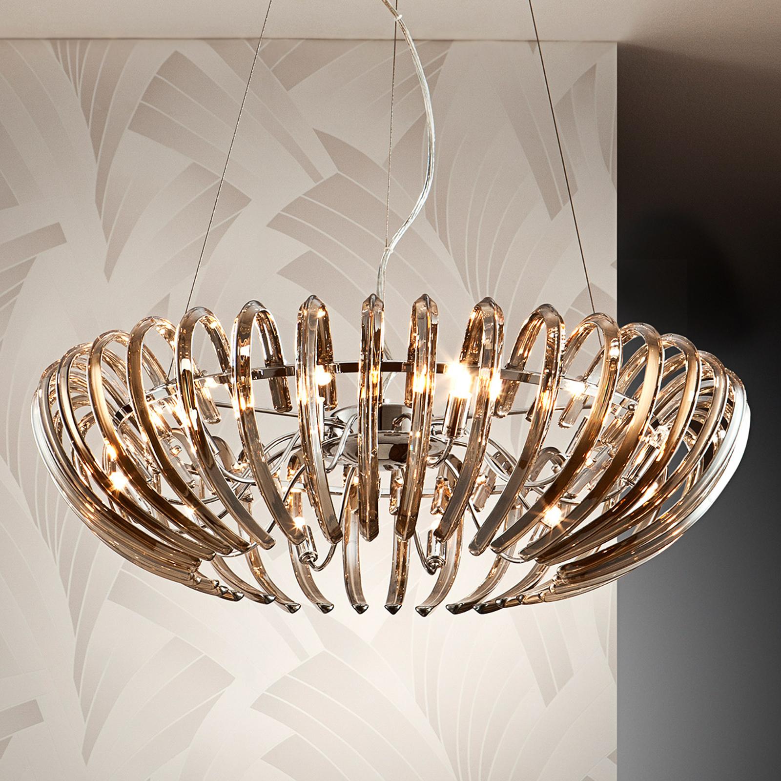ARIADNA - kryształowa lampa wisząca, szampan