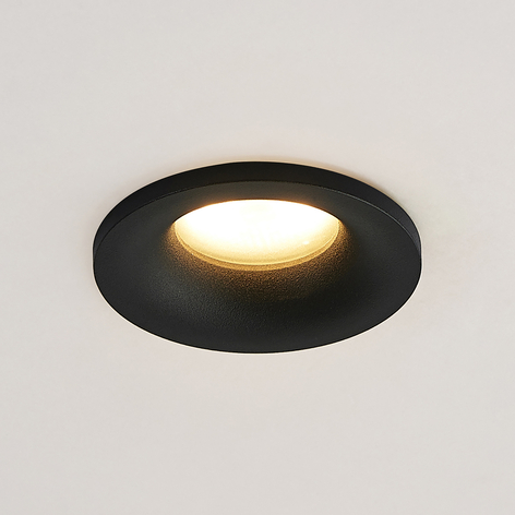 Arcchio Enia inbouwlamp, rond, zwart