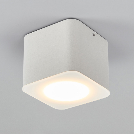 Helestra Oso LED takspot, kantet, hvit matt