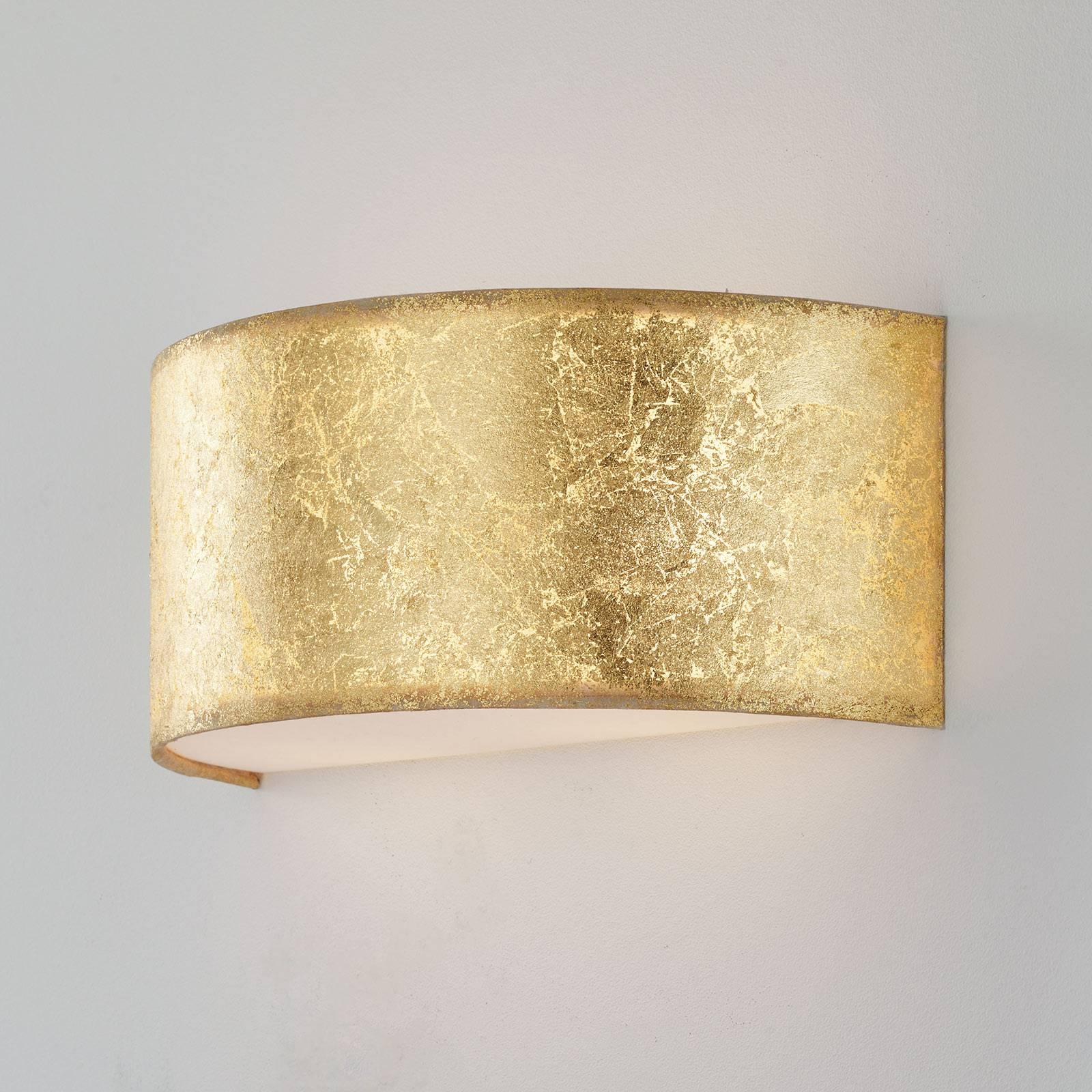 LED-Wandleuchte Alea mit Blattgold dimmbar