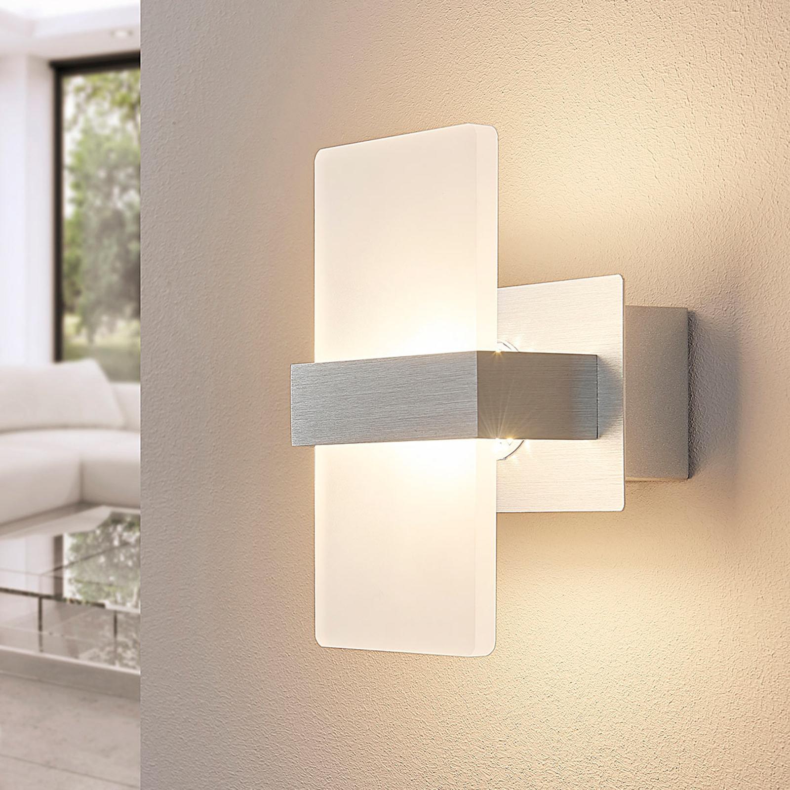 Applique LED Yorick, diaphragme en plastique blanc