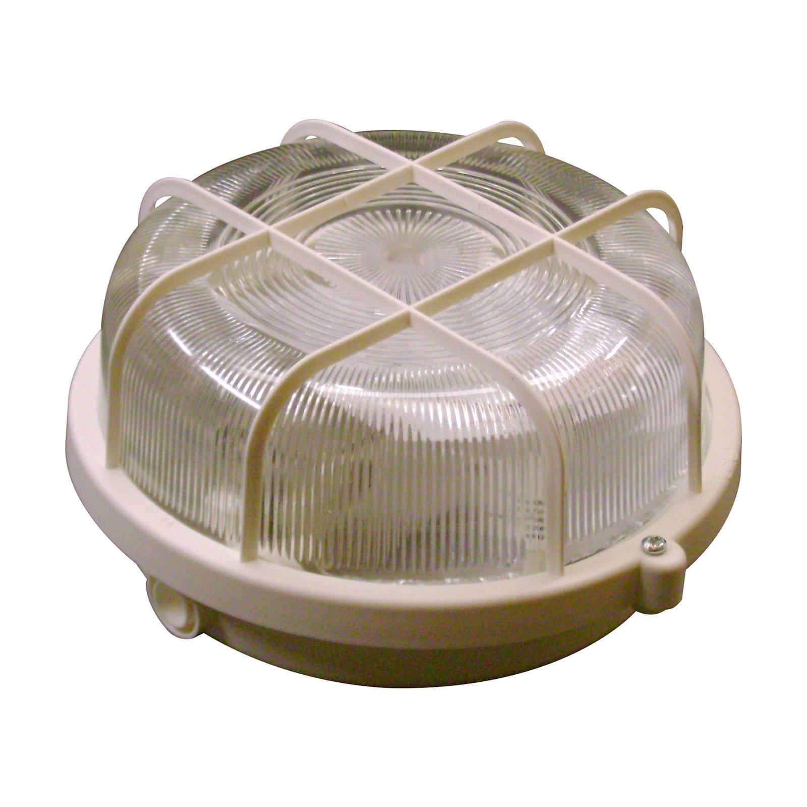 Væglampe Basic Round, hvid