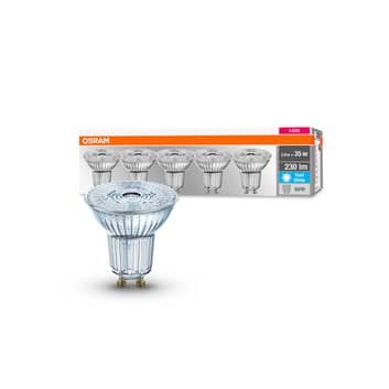 OSRAM LED-Reflektor GU10 2,6W 4.000K 230lm 36° 5er