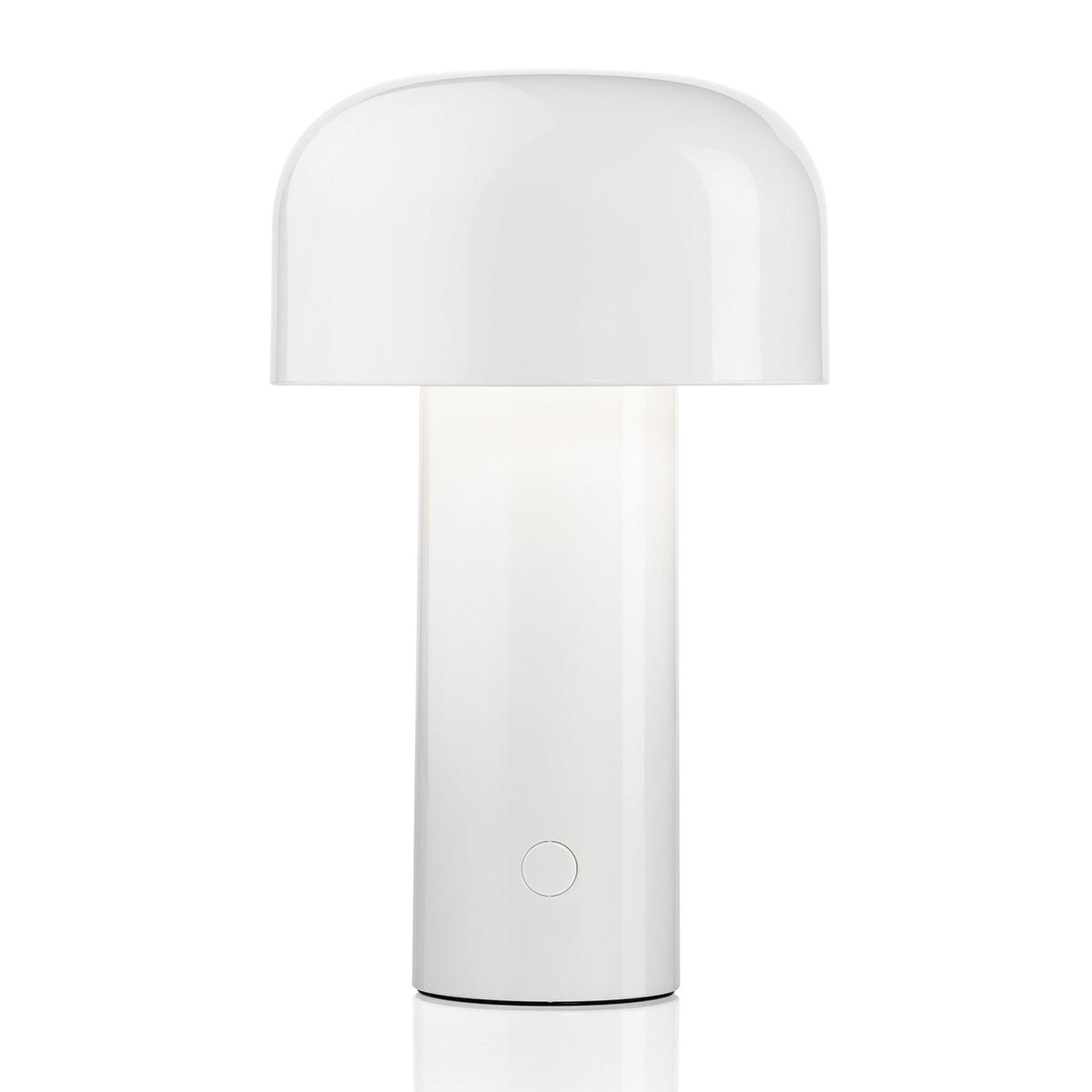 FLOS Bellhop ladattava LED-pöytävalaisin valkoinen