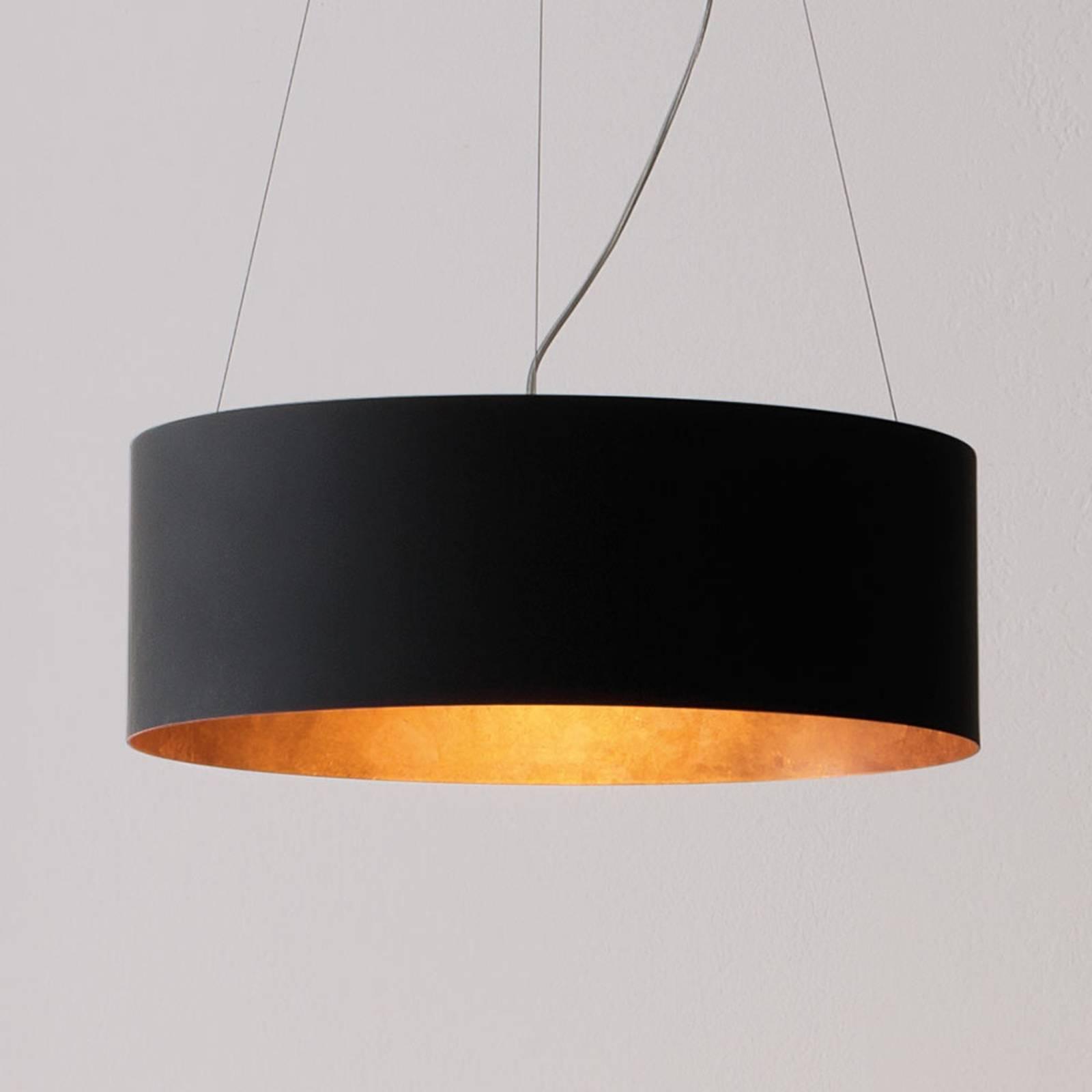 ICONE Olimpia lampa wisząca LED, czarno-miedziana
