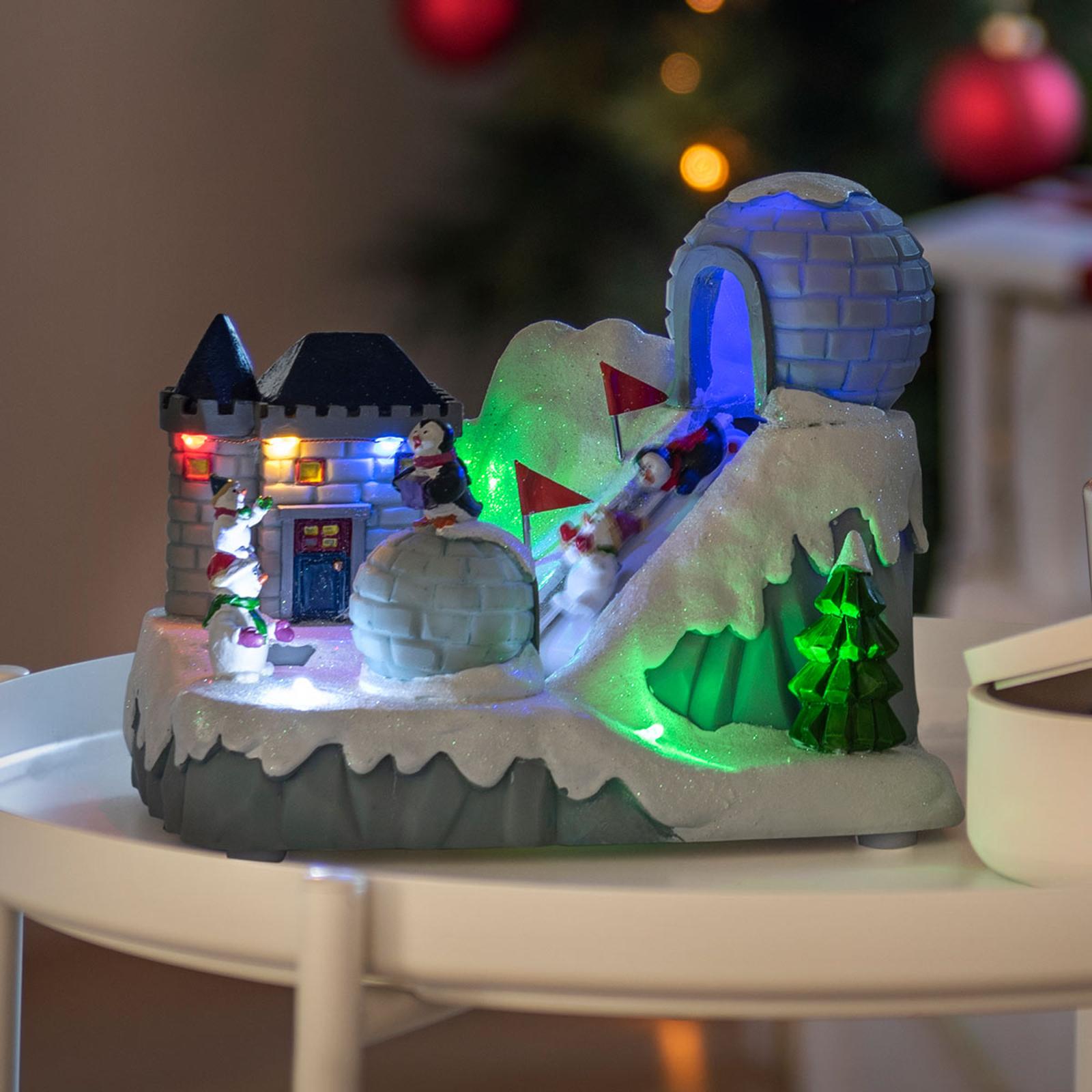Lampe décorative LED Piste de ski avec musique