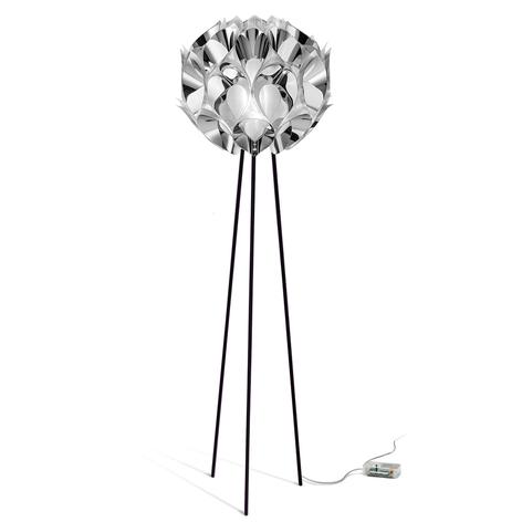 Lampada da pavimento di design Flora, argentata
