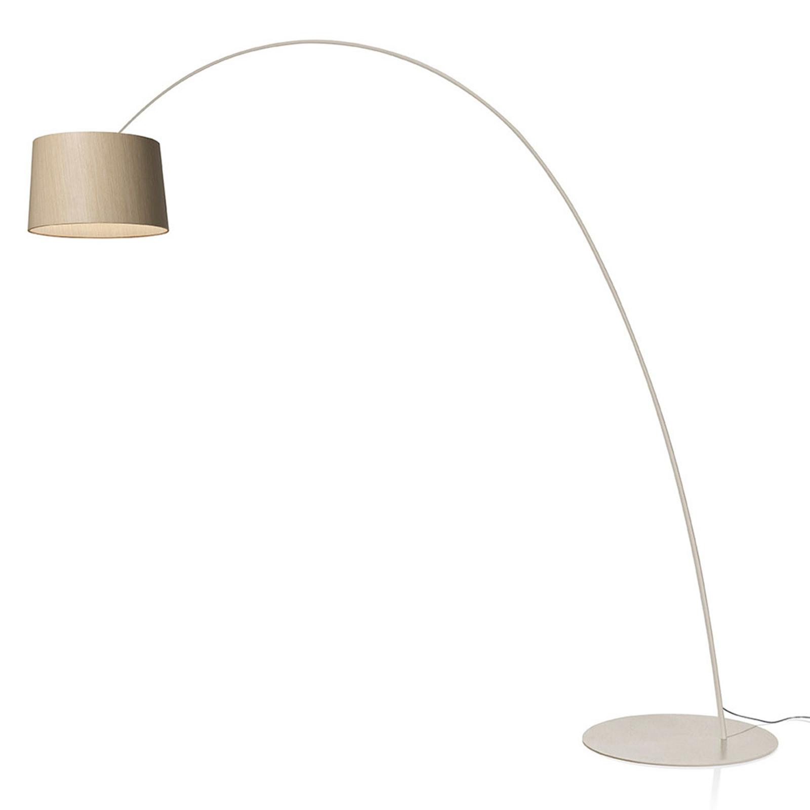 Foscarini Twiggy Wood MyLight lampadaire CCT grège