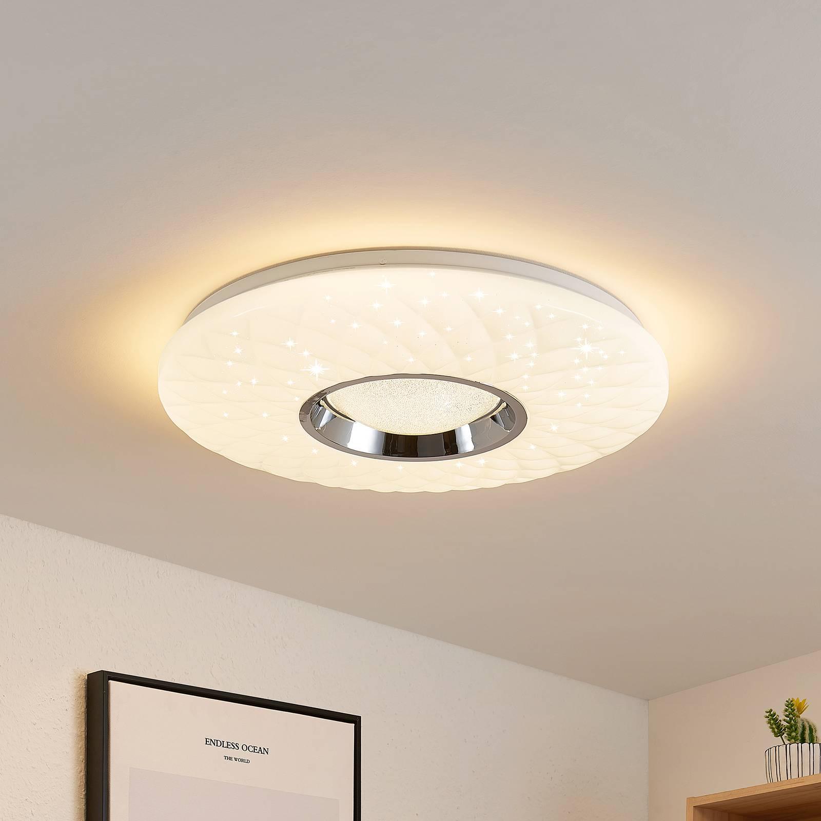 Lindby Illaria LED plafondlamp, RGBW, CCT, 49 cm