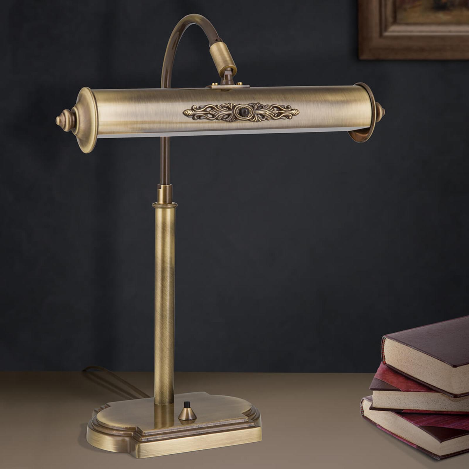 Lampe de bureau Picture en laiton vieilli