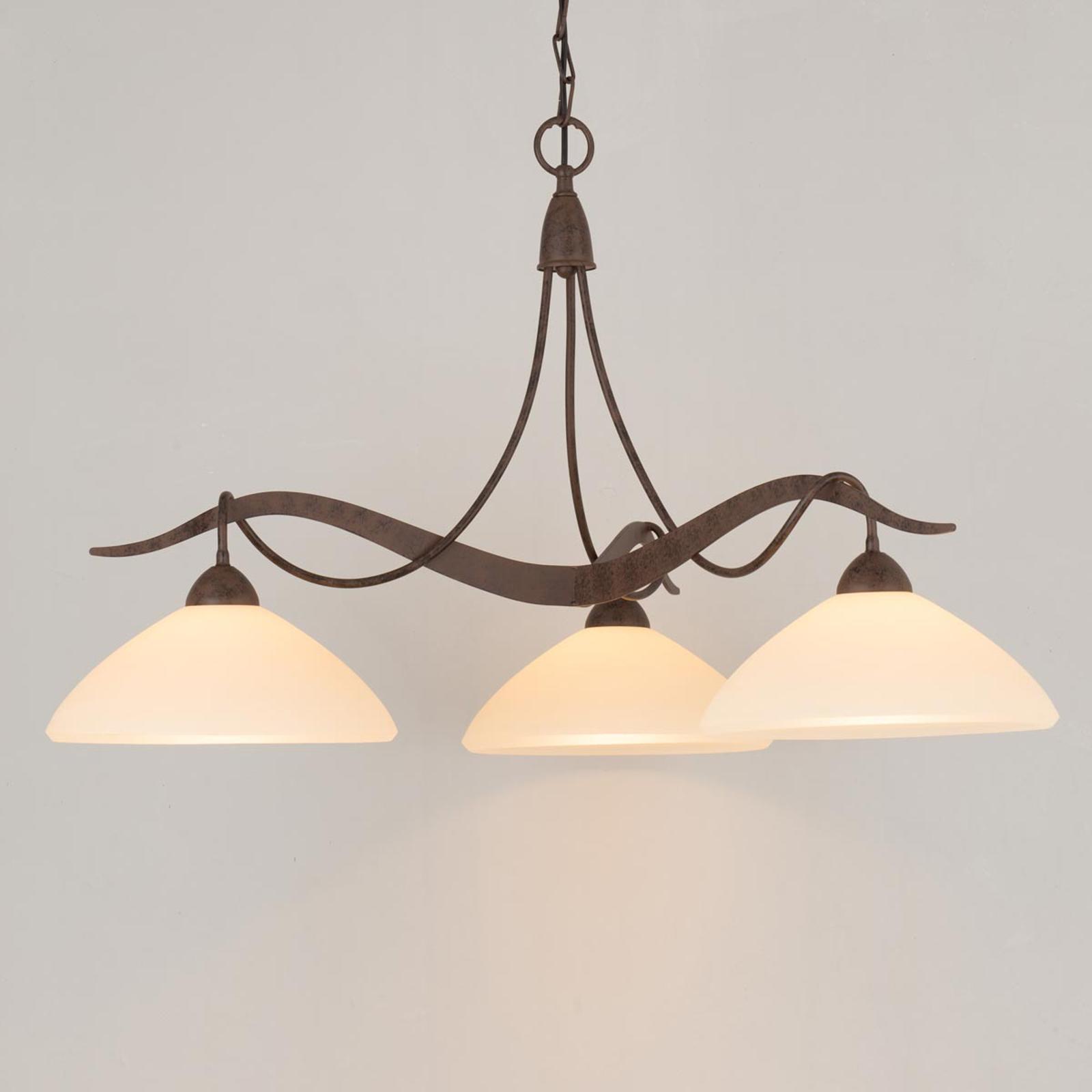 3-punktowa lampa wisząca Samuele styl wiejski krem