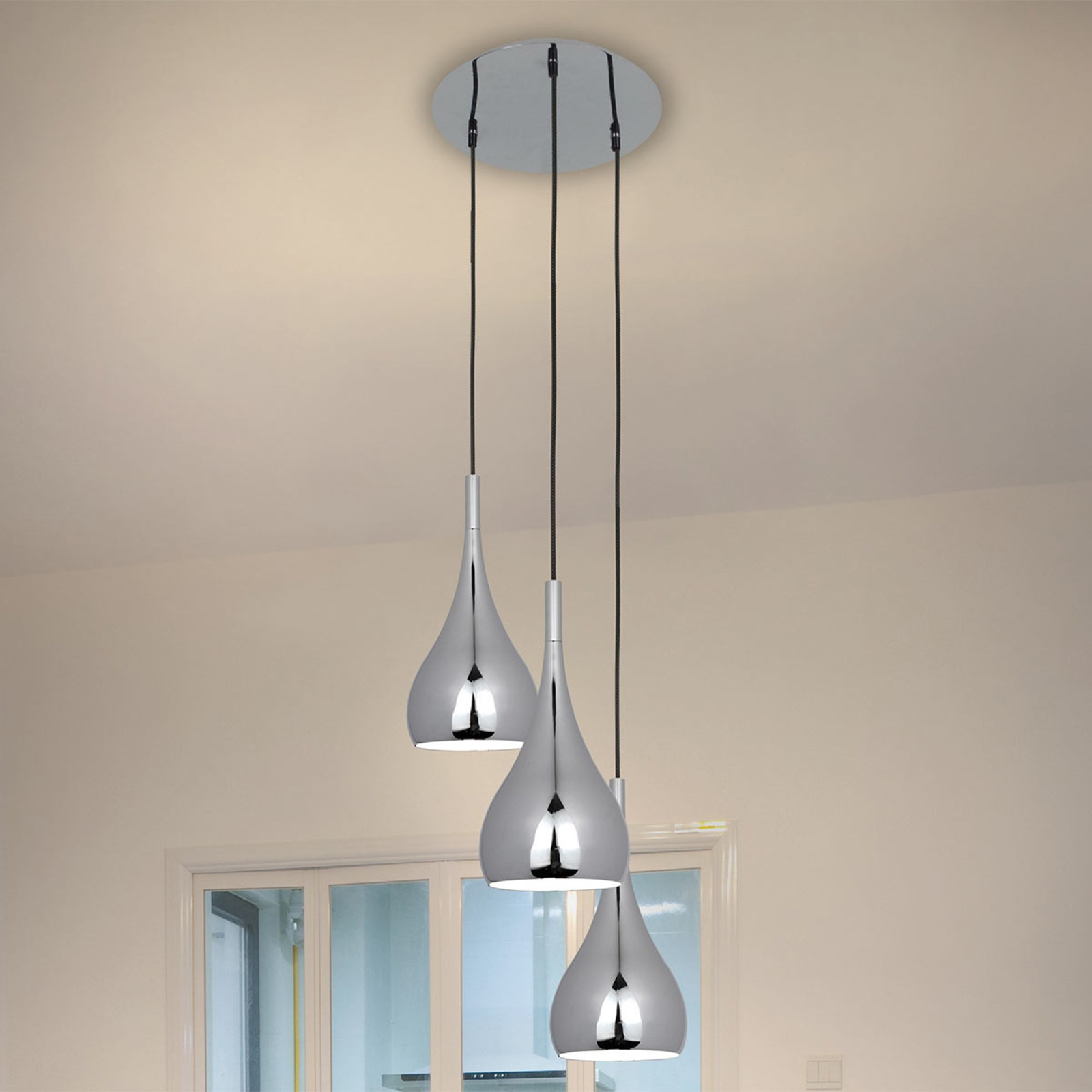 Drieflammige hanglamp Anja
