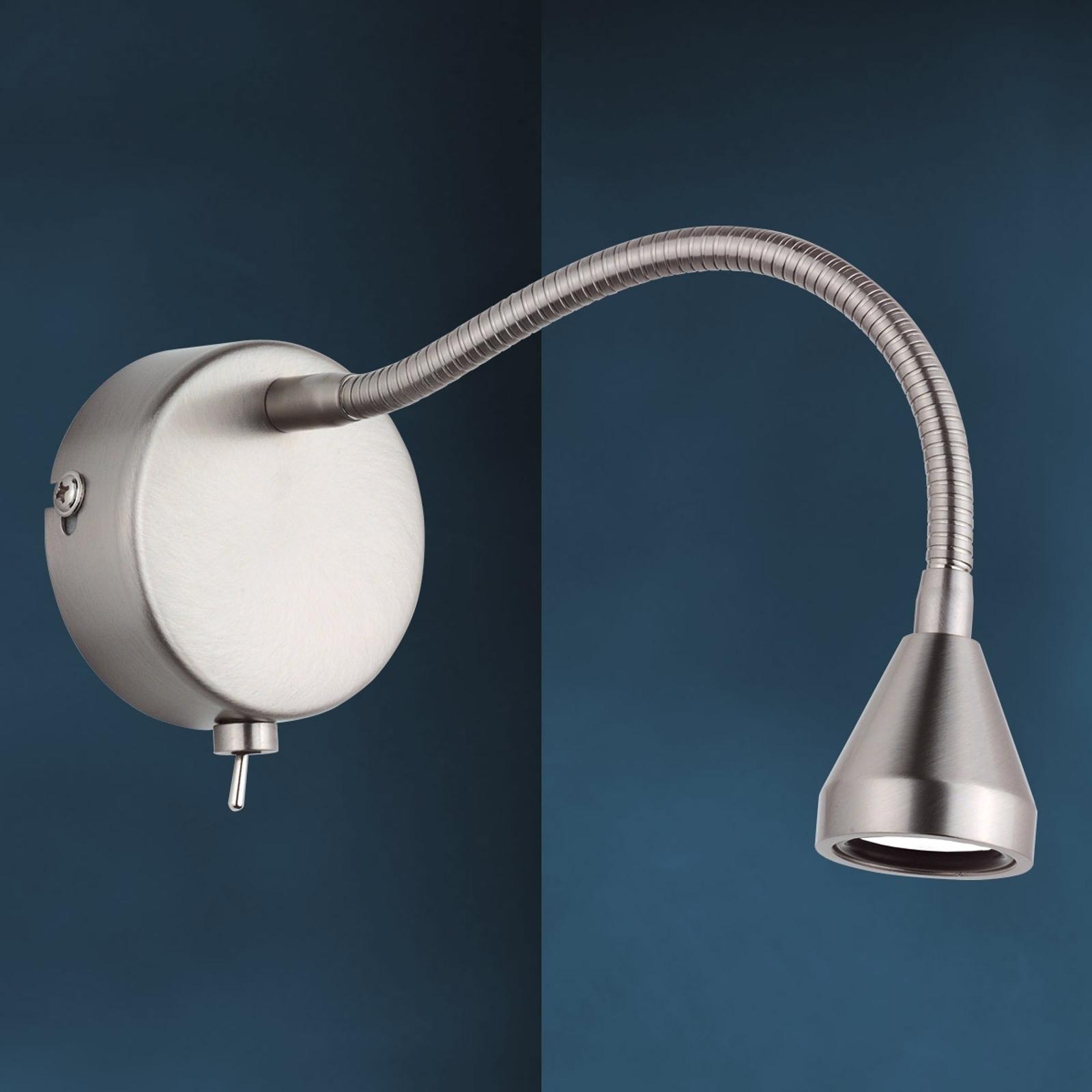 Flexibel LED-vägglampa MINI arm, universalvit