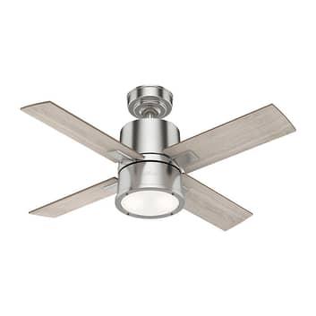 Hunter Beck ventilador con luz, roble/níquel