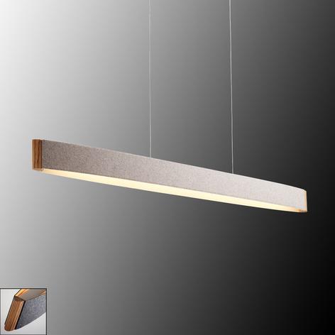 Zep 13 LED-hengelampe i ullfillt i grått- ullhvitt