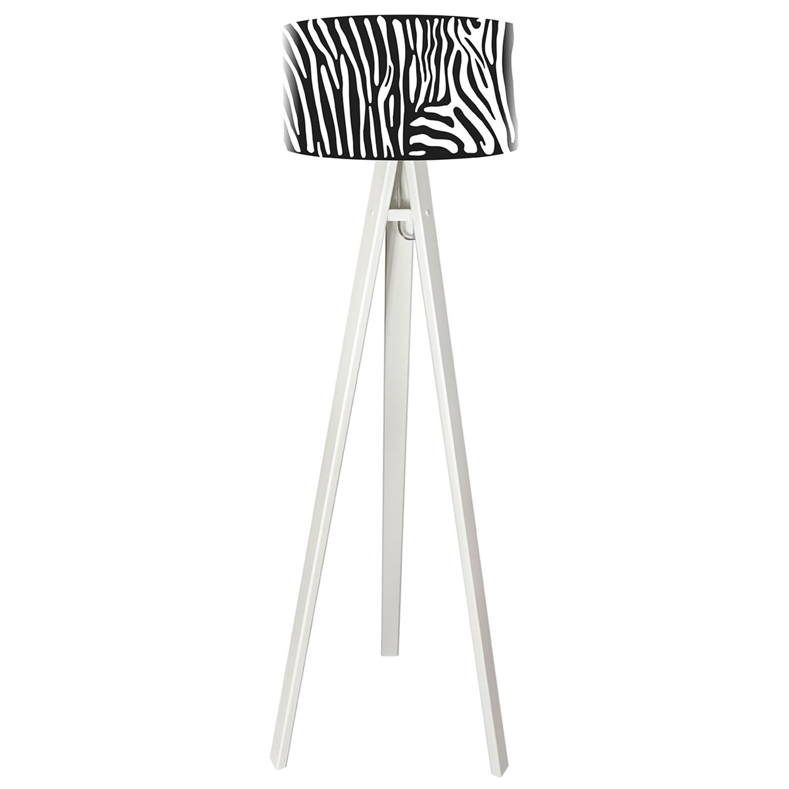 Stijlvolle vloerlamp Zola met zebraprint