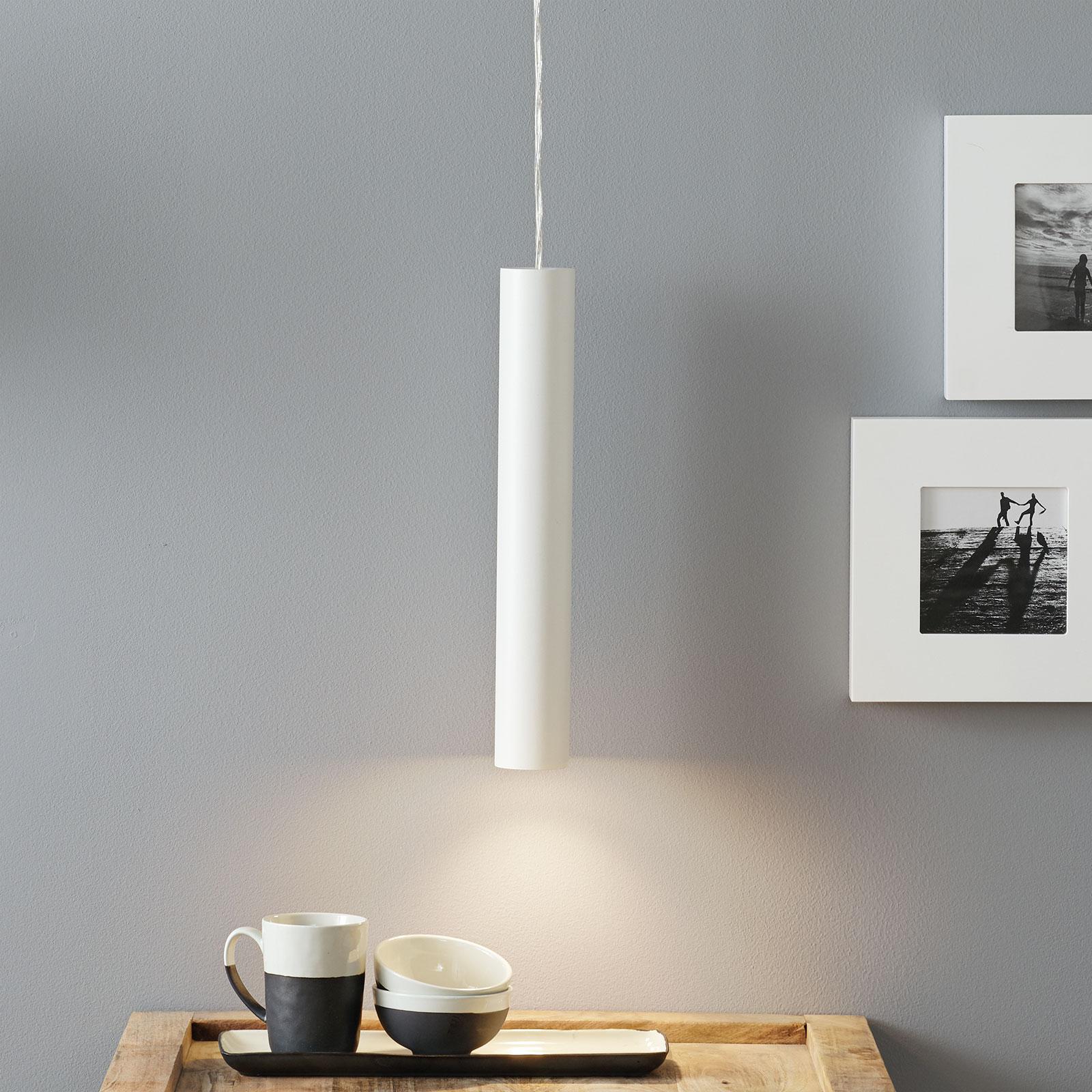 Lucande Luana lampa wisząca 40 cm biała