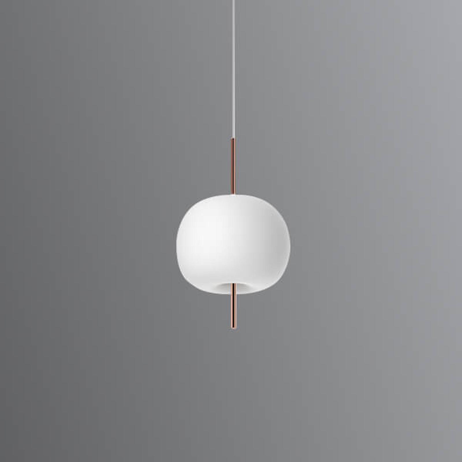 Lampada LED a sospensione Kushi,asta di rame 16
