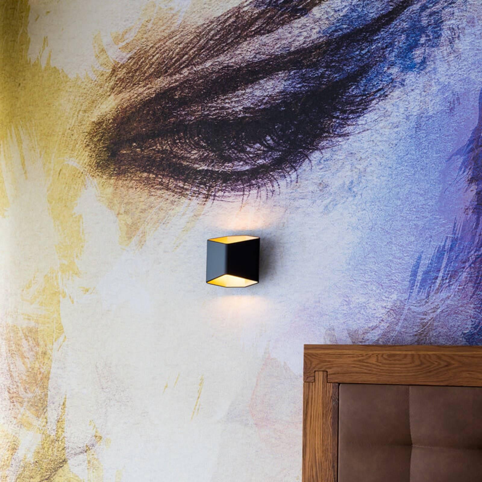 SLV Cariso LED-Wandleuchte schwarz/messing 16,4cm