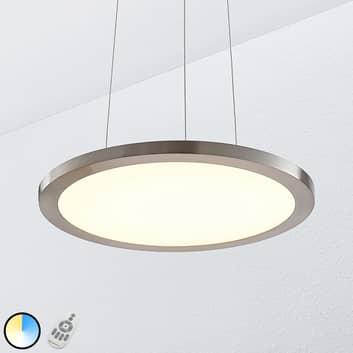LED-Hängeleuchte Tess, 2.700-6.200K, 40 cm, chrom