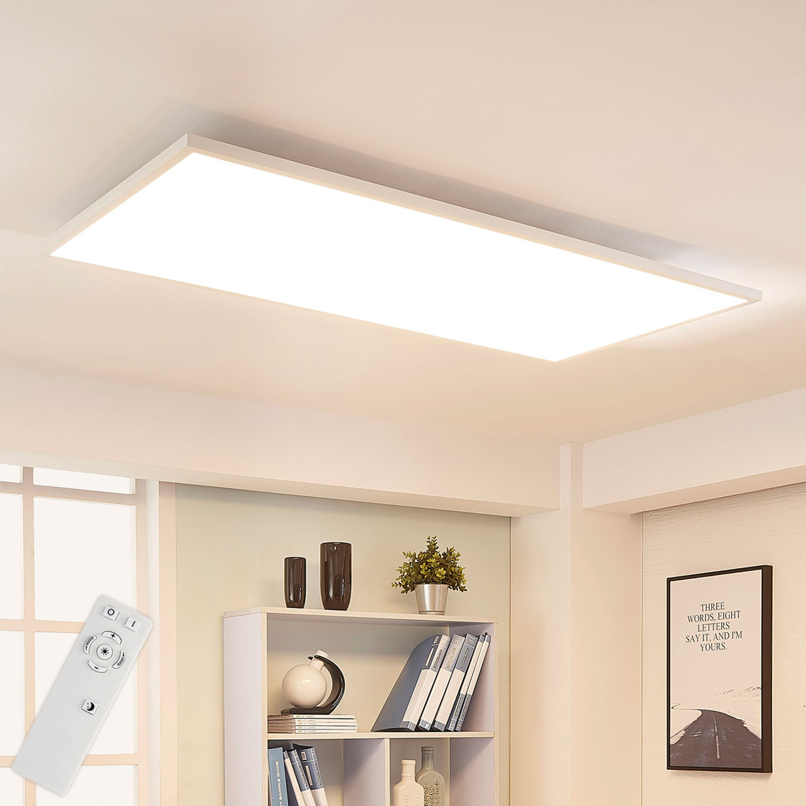 Arcchio Arya LED-Panel, dimmbar, 119 cm x 59 cm